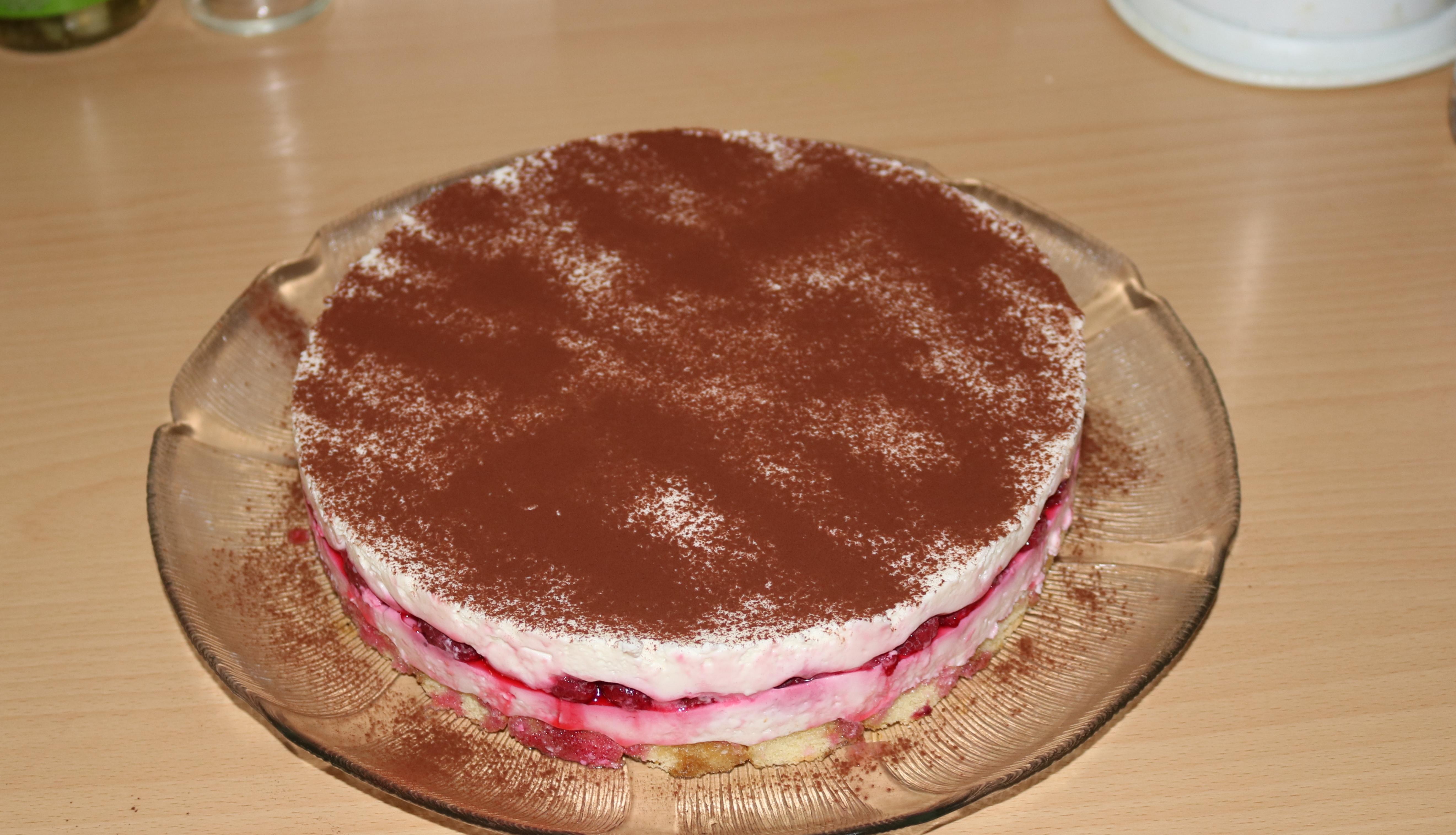Himbeer-Tiramisu-Torte