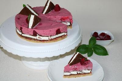 Milchschnitte- Himbeer- Torte